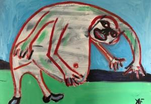 adam f crablike painting